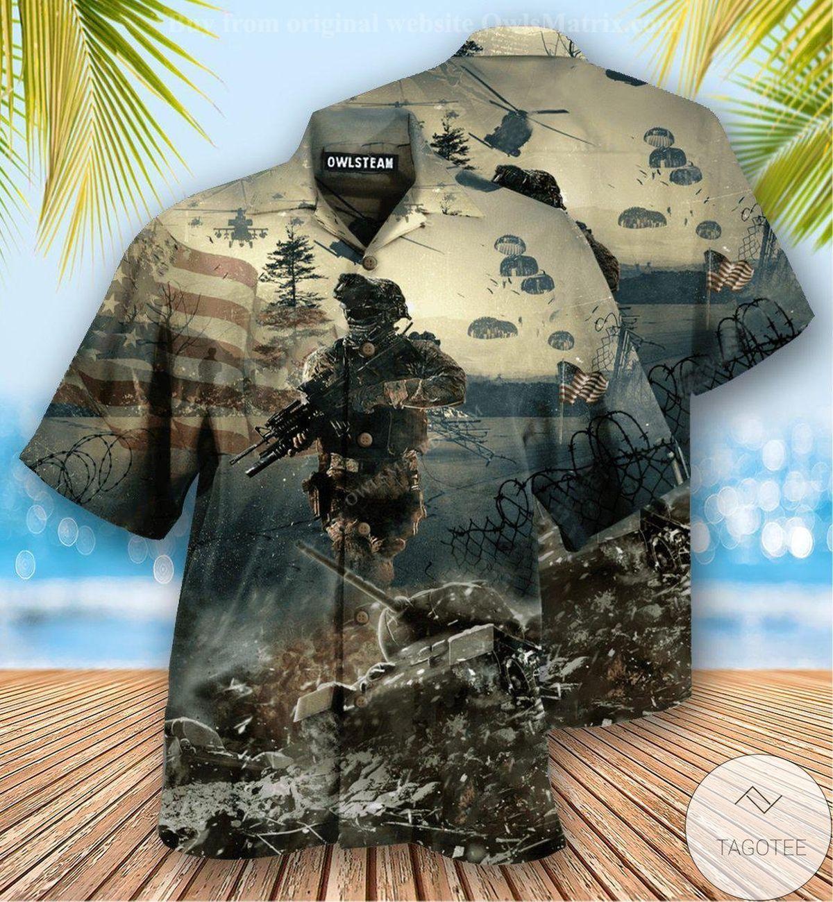 Veteran Brave Steps Hawaiian Shirt