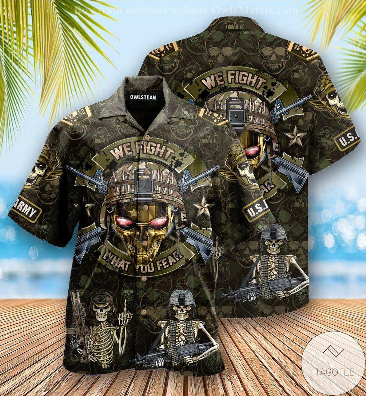 Perfect Veteran We Fight What You Fear Hawaiian Shirt