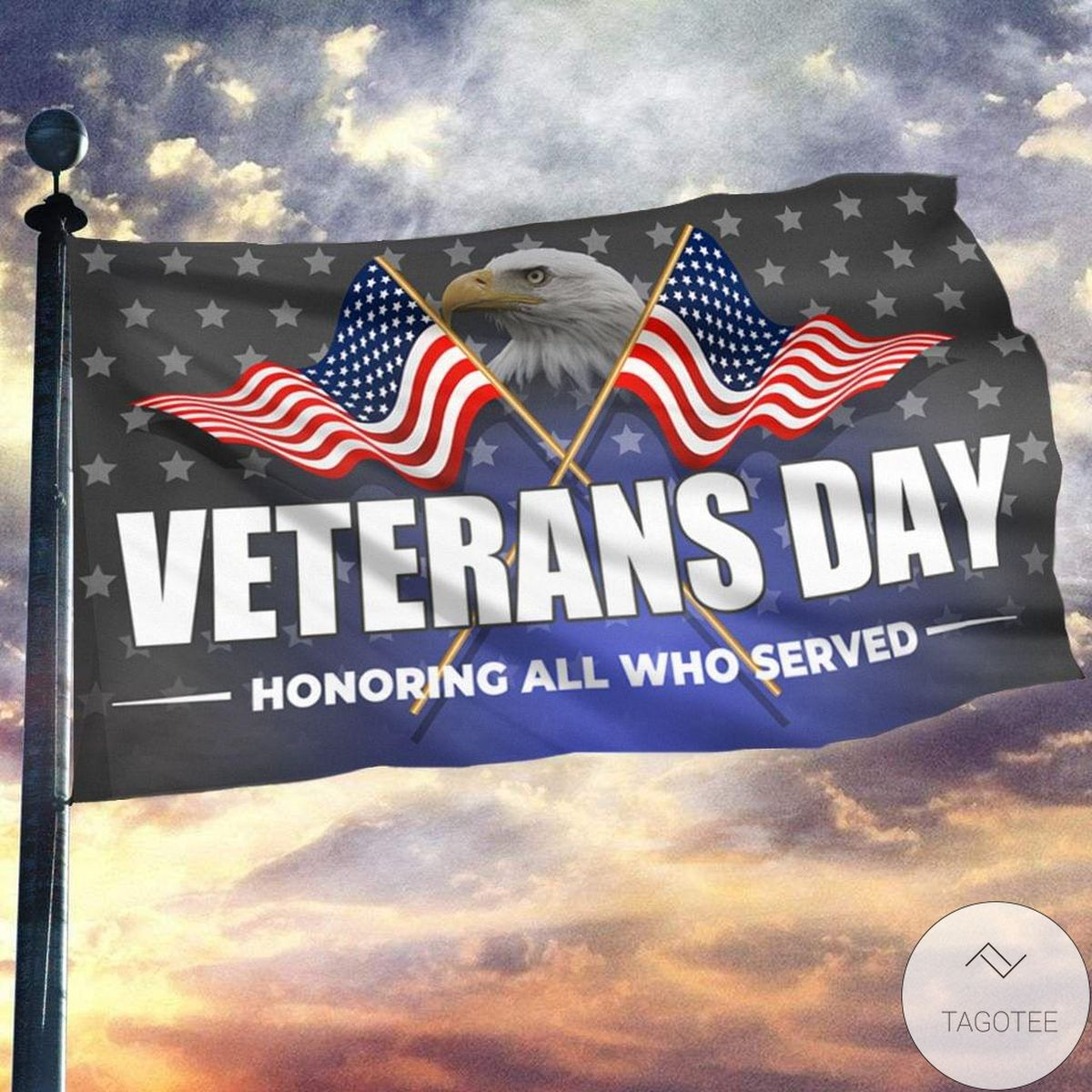 Funny Tee Veterans Day Honoring All Who Served Flag