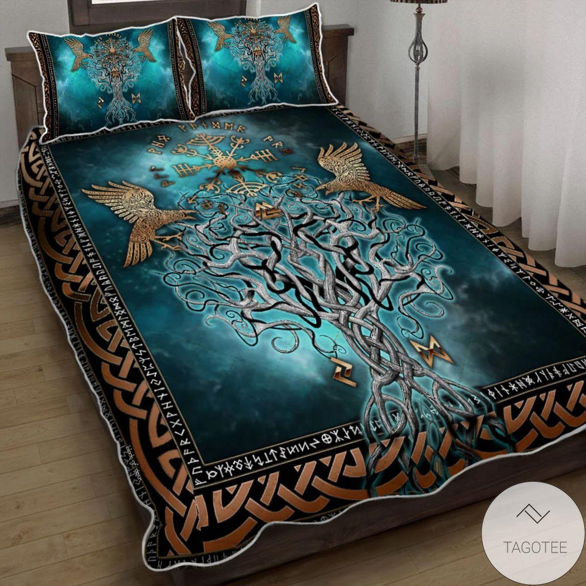 Viking Compass Yggdrasil Bedding Set