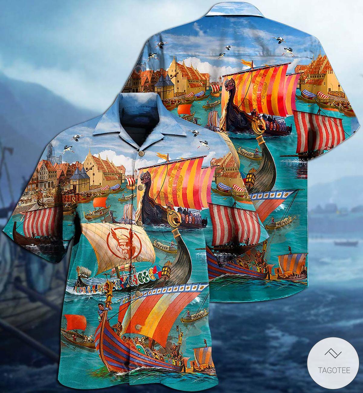 Viking Sail Let War Hawaiian Shirt