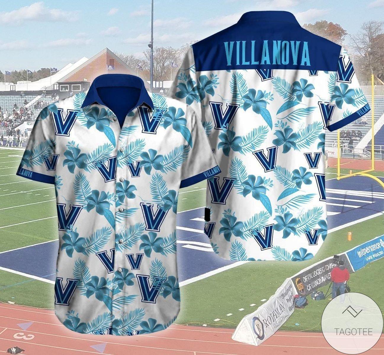 Villanova Wildcats Logo 3D Hawaiian Shirt