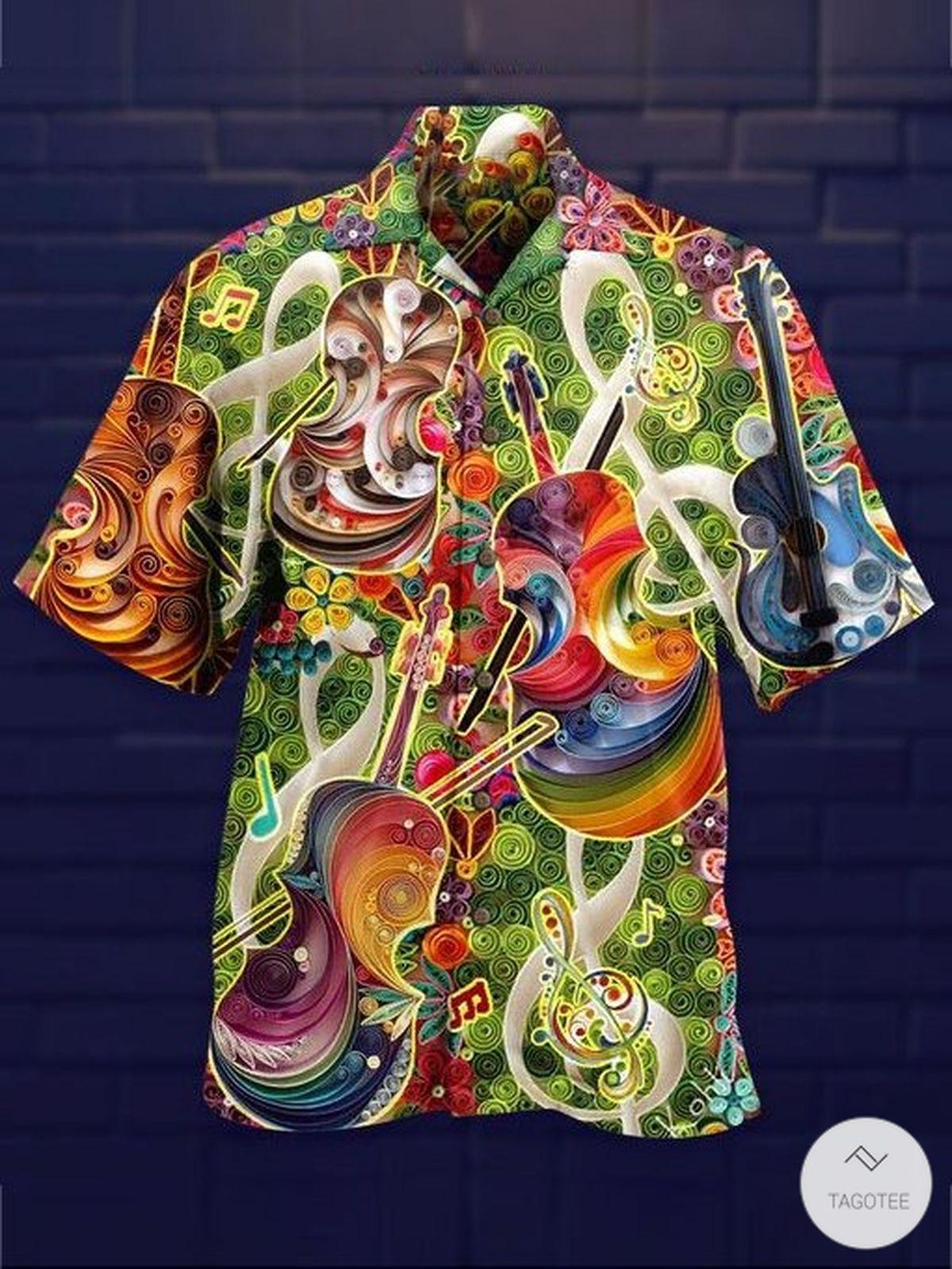 Violin Art Hawaiian Shirt