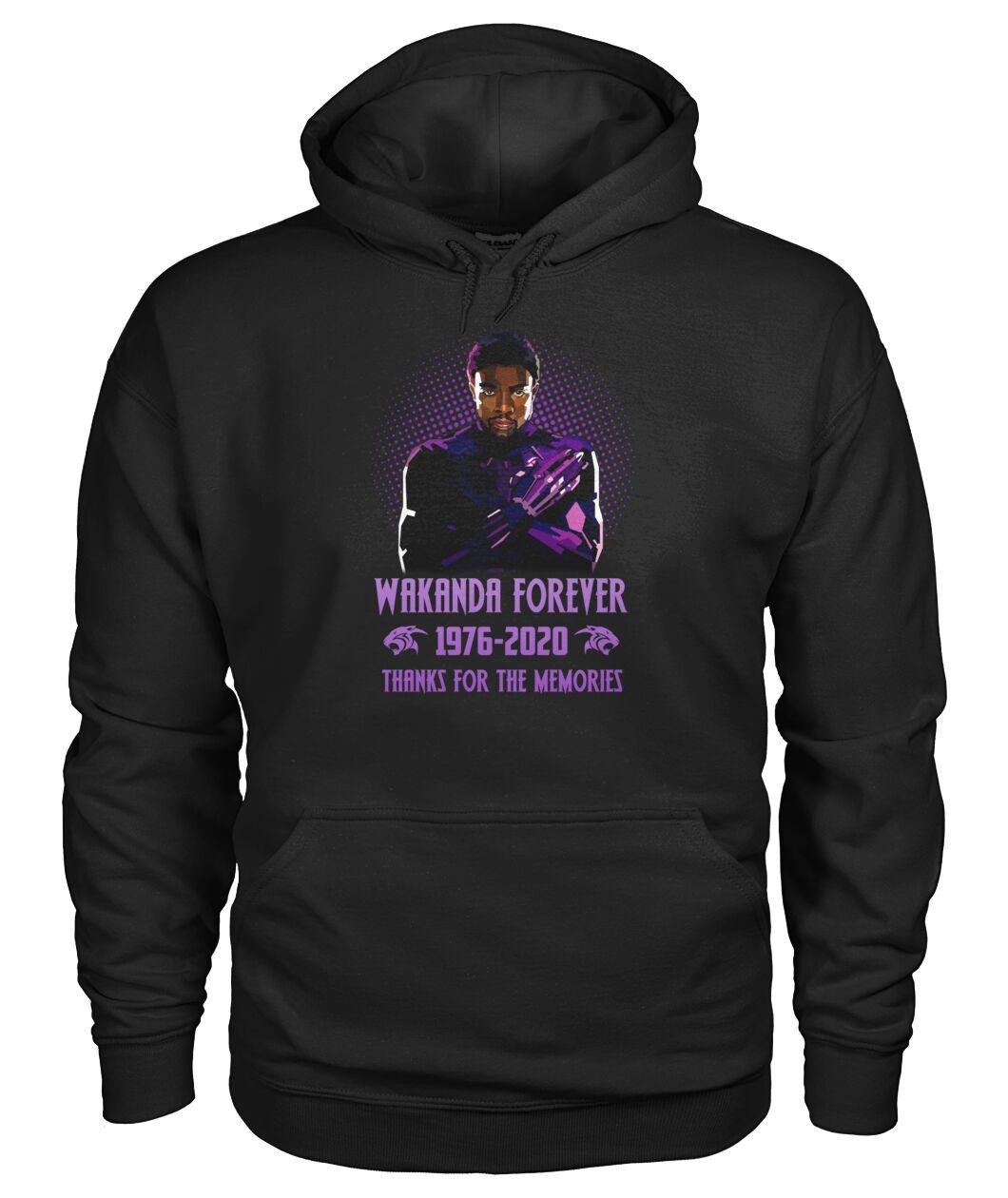Wakanda Forever 1976-2020 Thanks for the memories hoodie
