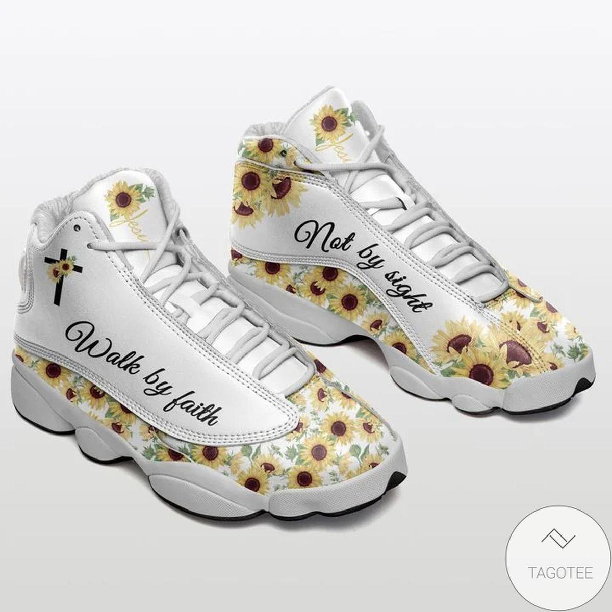 Walk By Faith Not By Sight Sunflower Sneaker Air Jordan 13
