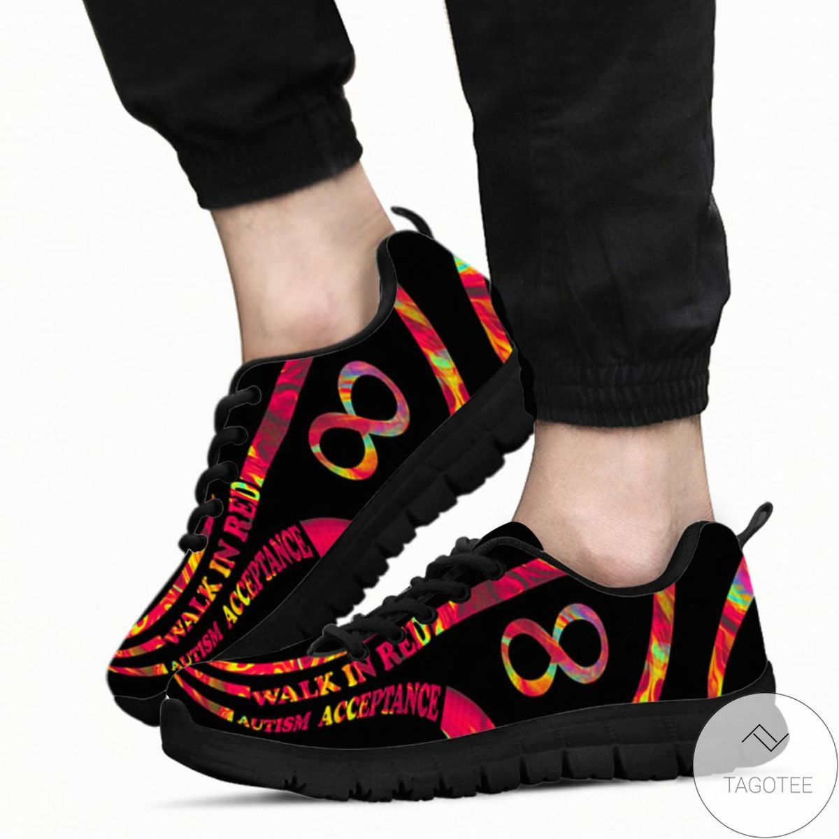 Amazon Walk In Red Autism Acceptance Sneakers