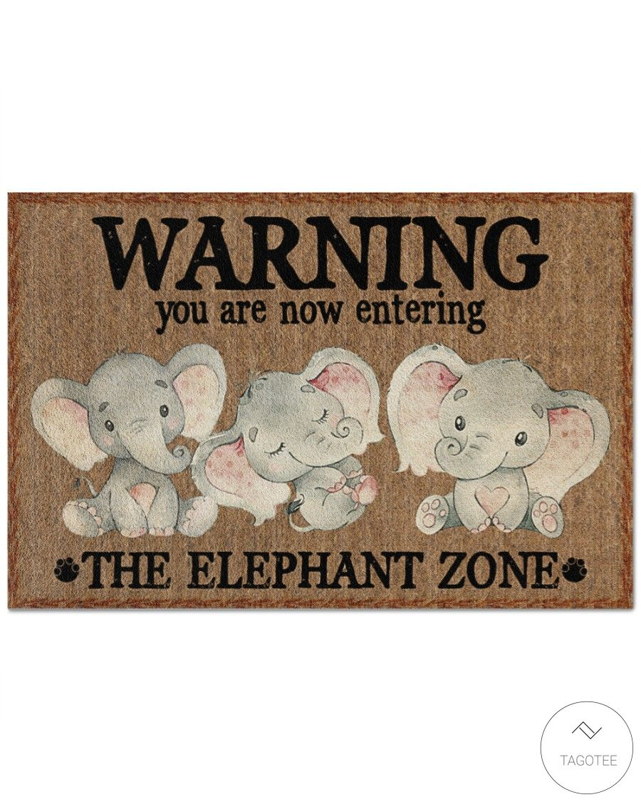 Warning you are now entering the Elephant Zone doormat