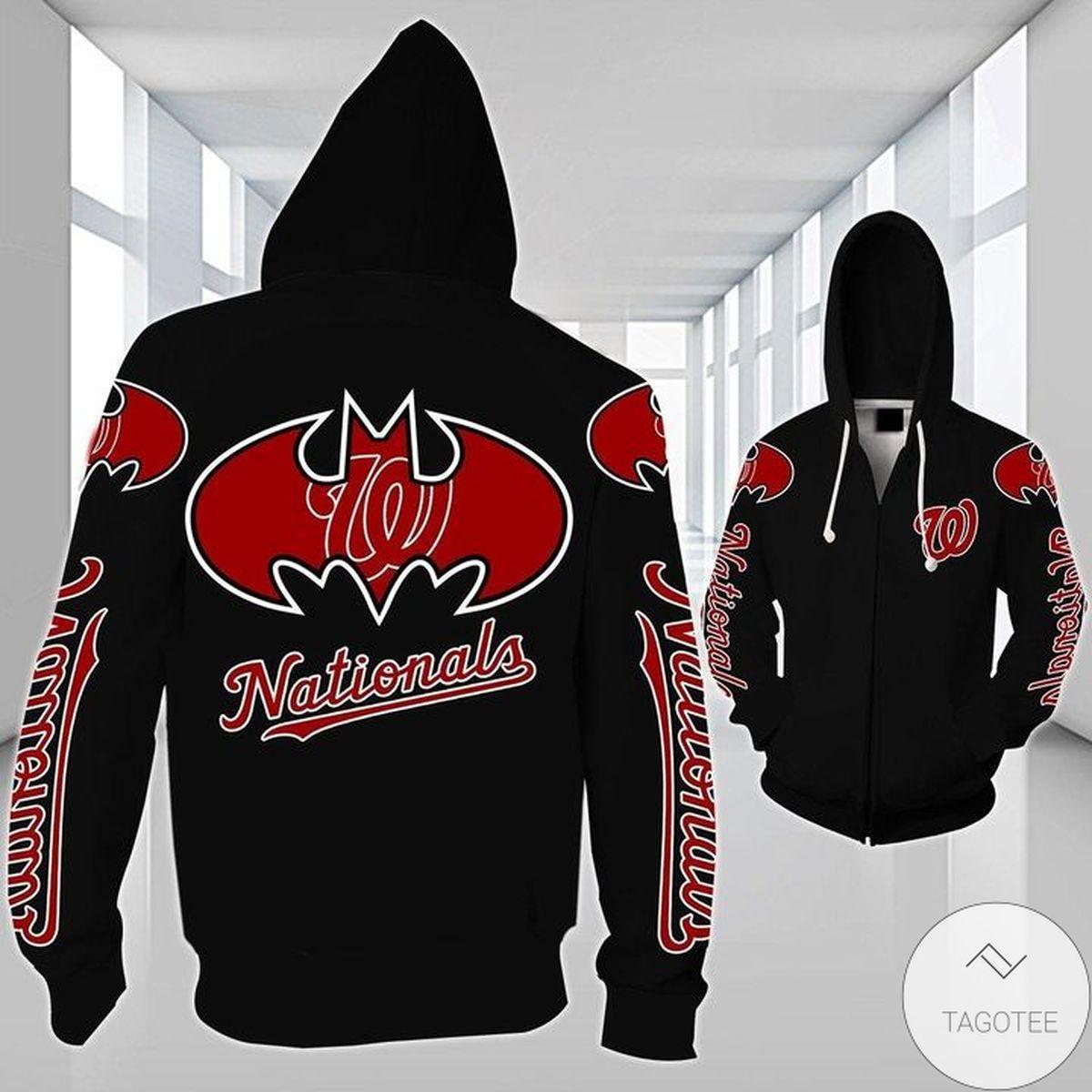 Washington Nationals Batman 3d Hoodie