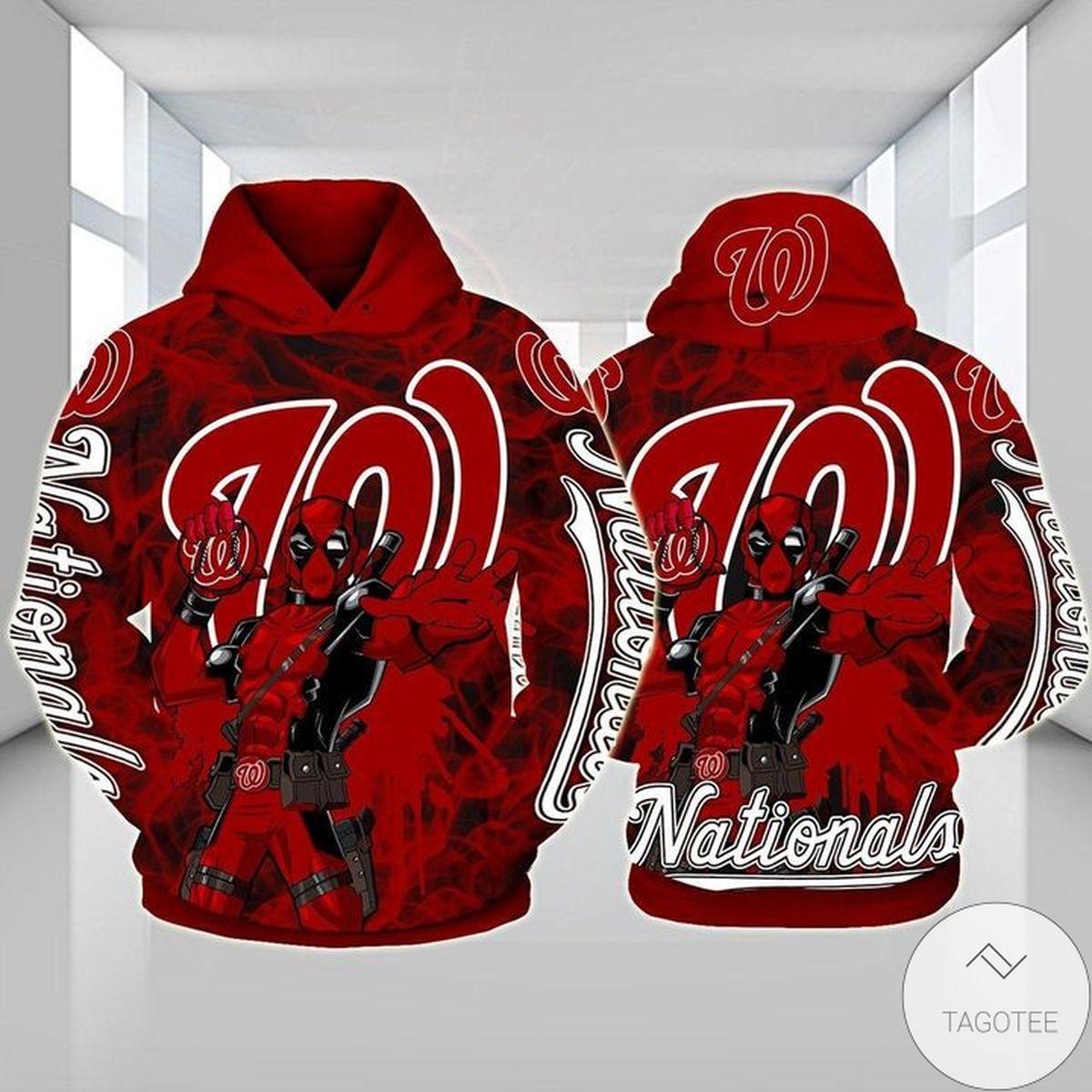 Washington Nationals Deadpool 3D Hoodie