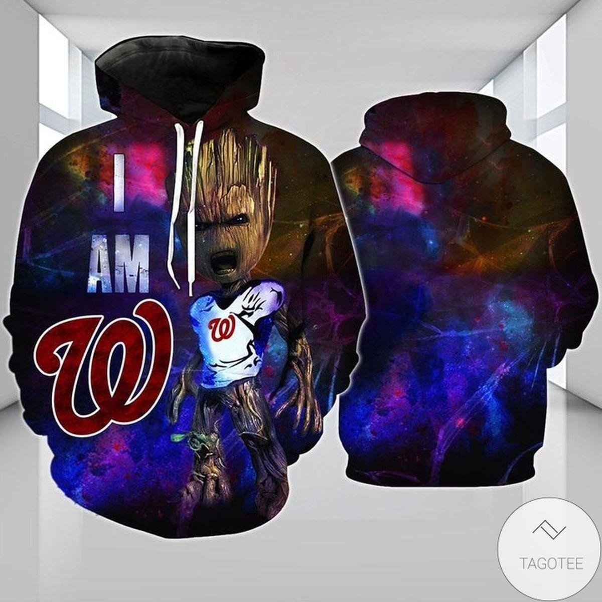 Washington Nationals Groot 3d Hoodie