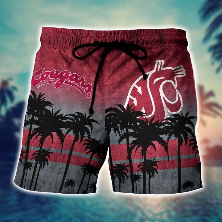 Us Store Washington State Cougars  Hawaiian Shirt, Beach Short