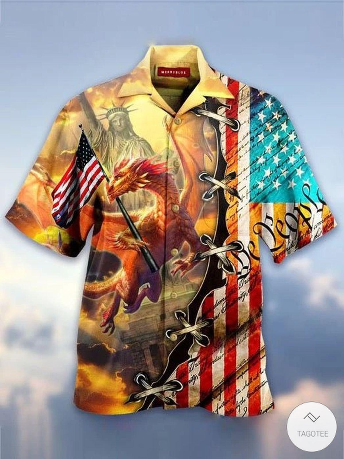 We The People Dragon Hawaiian Shirt