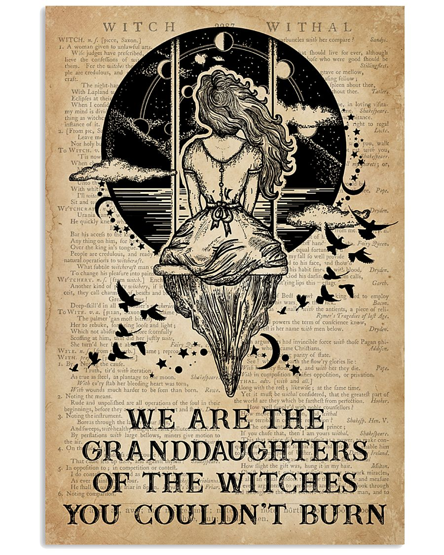 We are the granddaughters of the witches you couldn't burn vintage poster 1