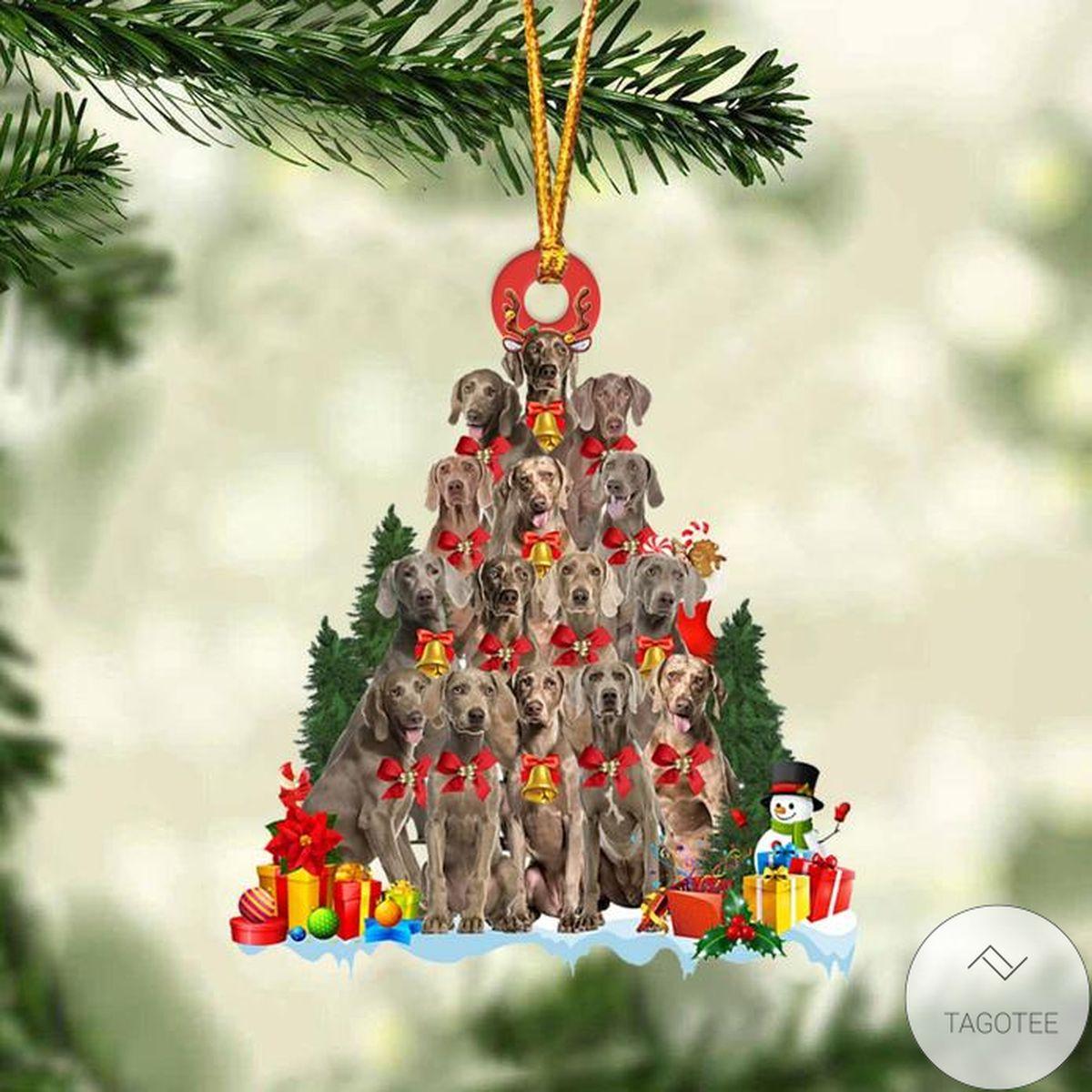 Weimaraner Dog Christmas Tree Ornament