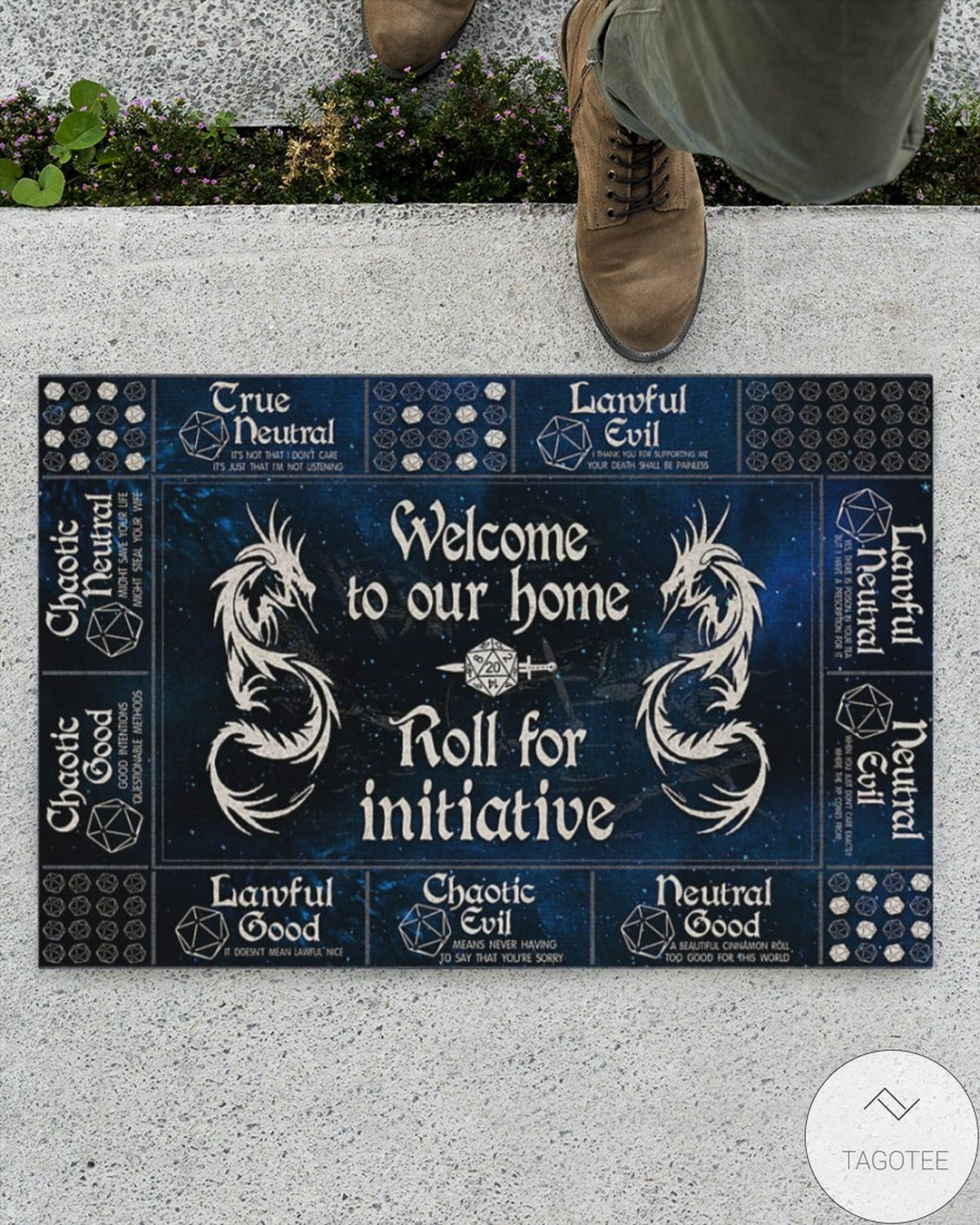 Beautiful Welcome To Our Home Roll For Initiative Doormat