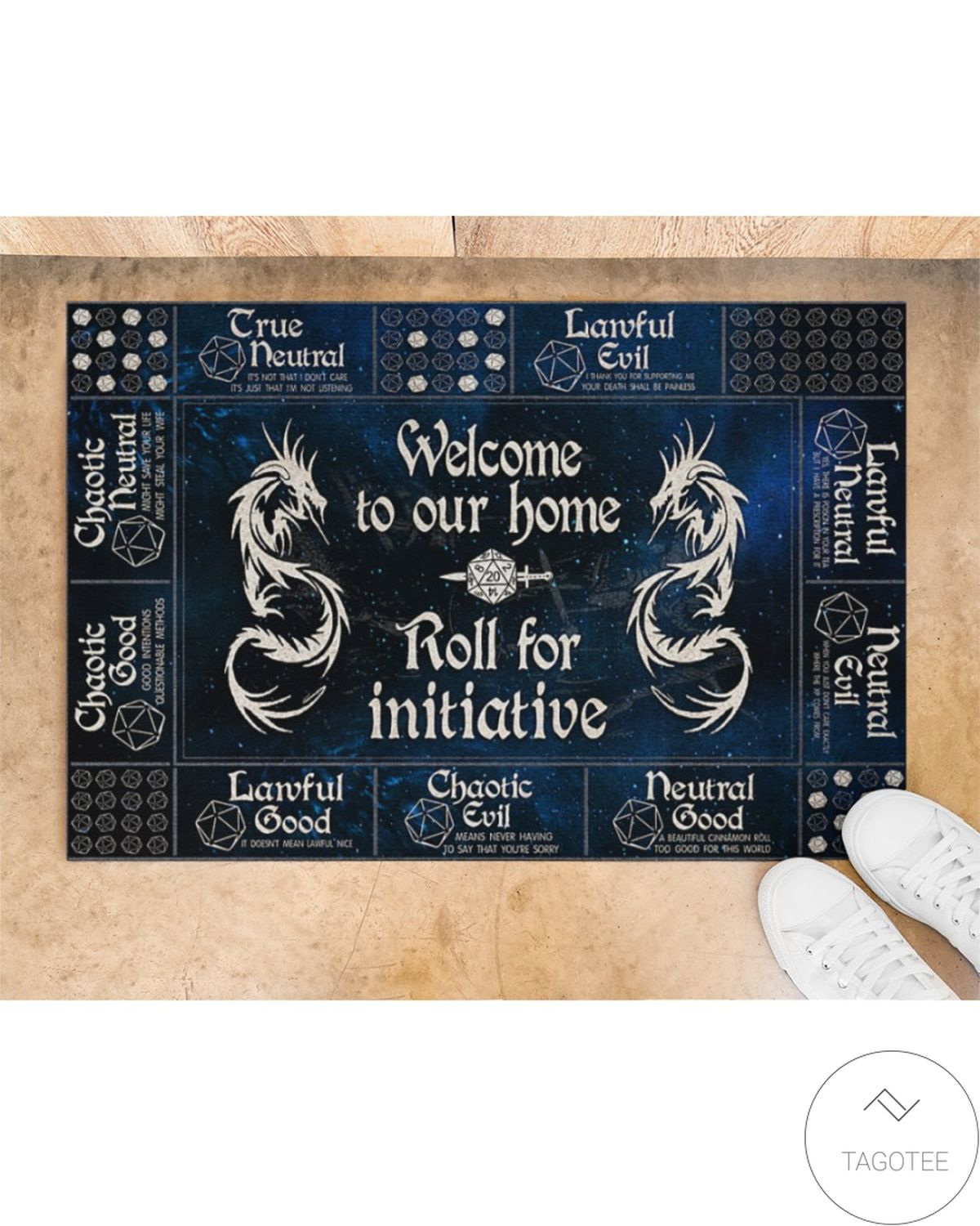 Handmade Welcome To Our Home Roll For Initiative Doormat