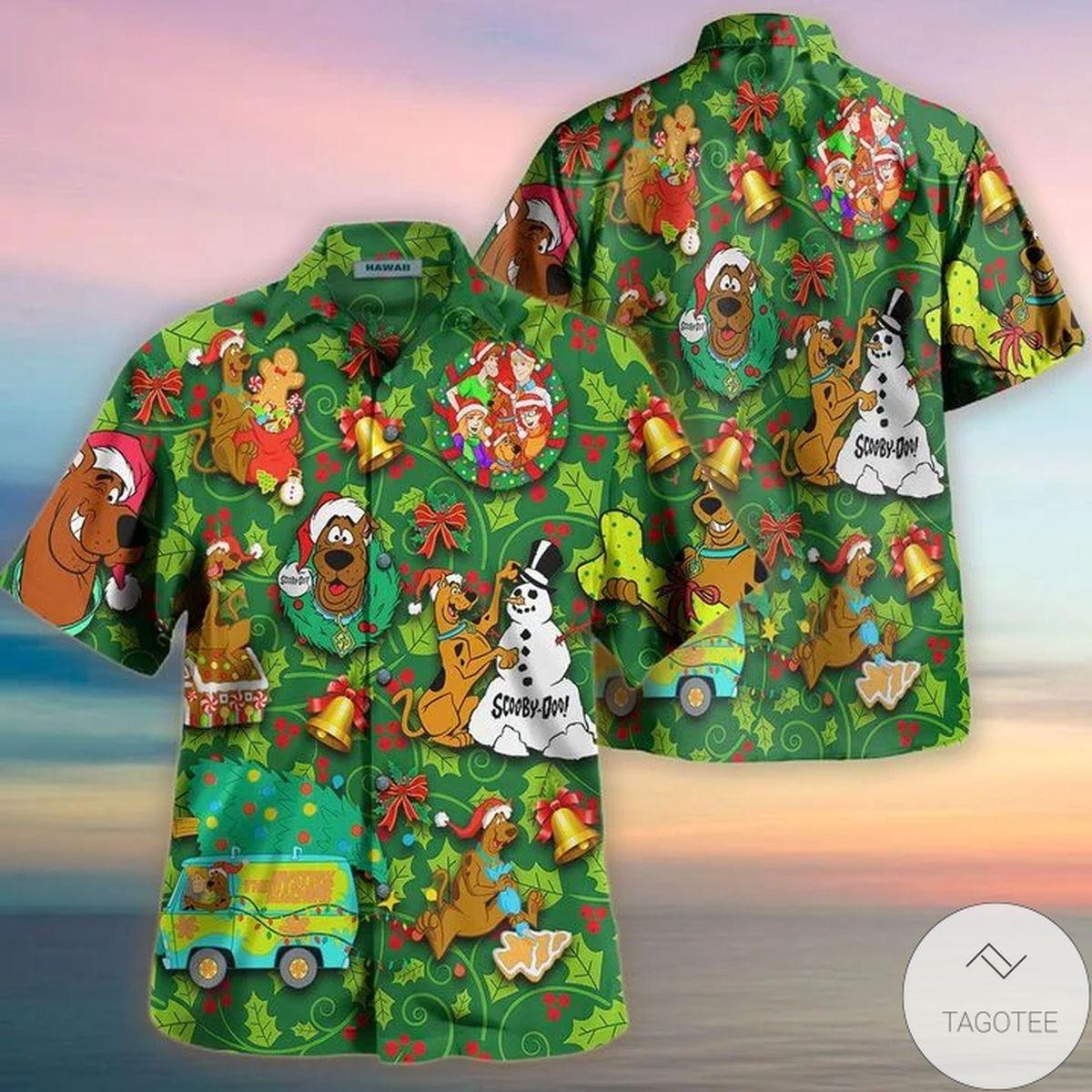 We'll All Be Home For Christmas Scooby Doo Hawaiian Shirt