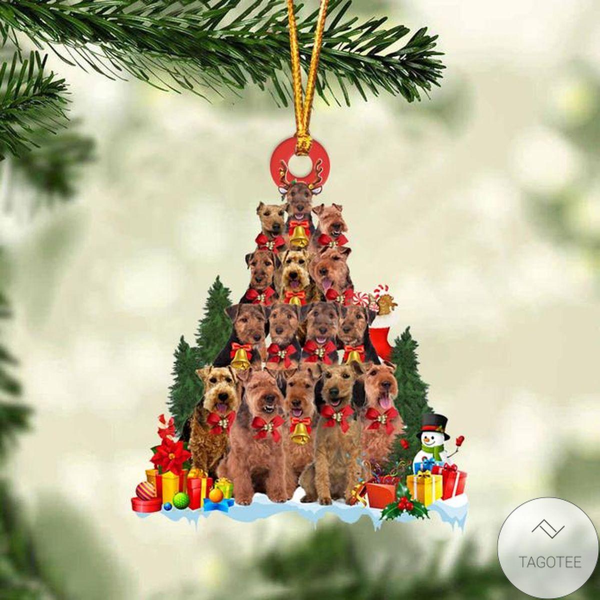 Welsh Terrier Dog Christmas Tree Ornament
