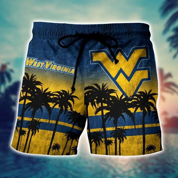 Esty West Virginia Mountaineers Tropical Hawaiian Shirt, Beach Short