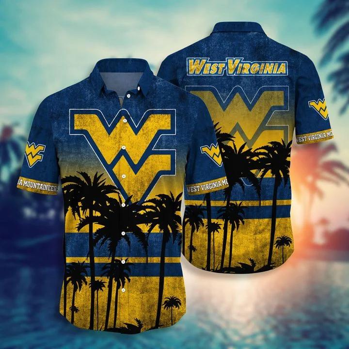 Ships From USA West Virginia Mountaineers Tropical Hawaiian Shirt, Beach Short
