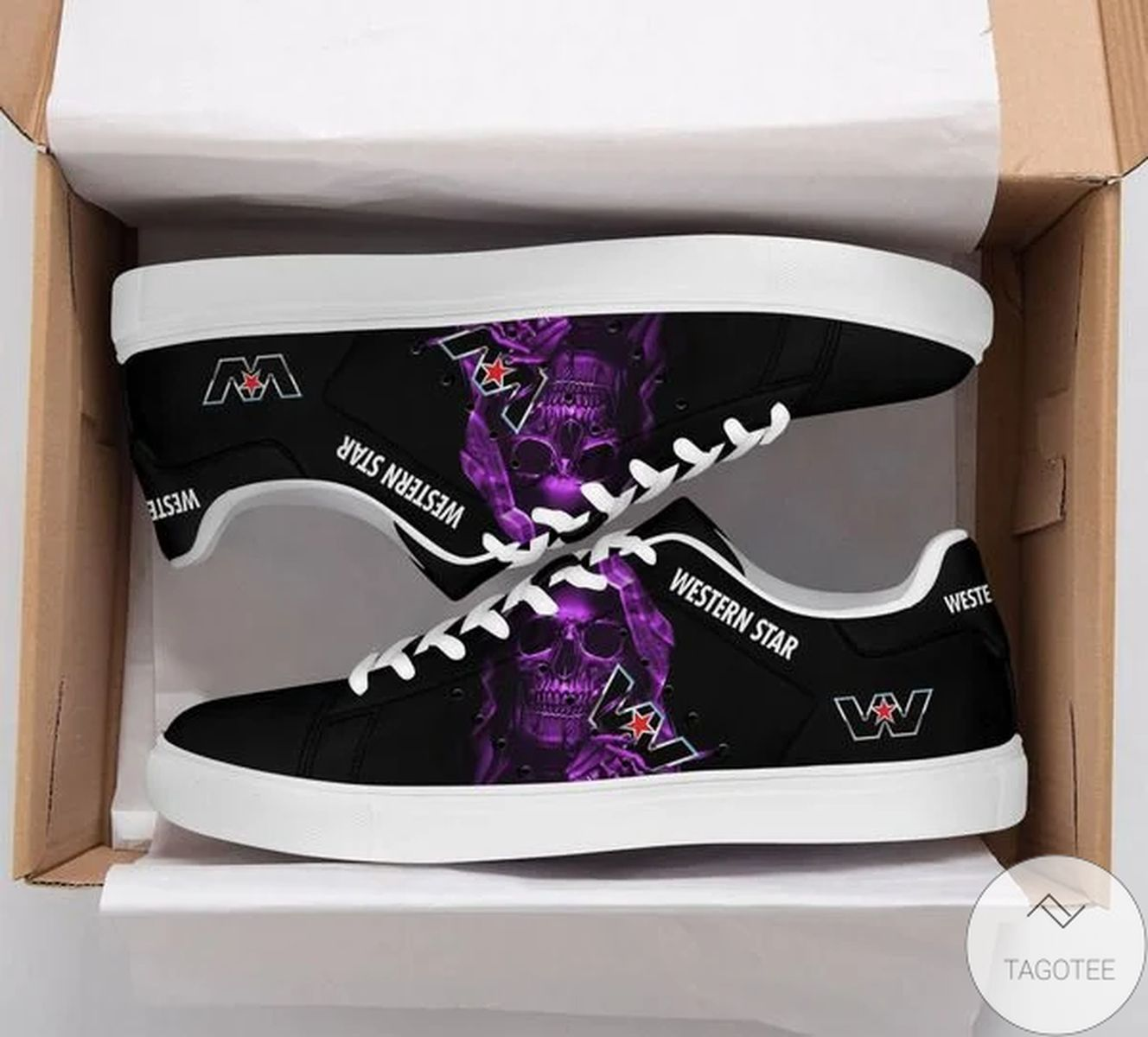 Unisex Western Star Skull Stan Smith Shoes