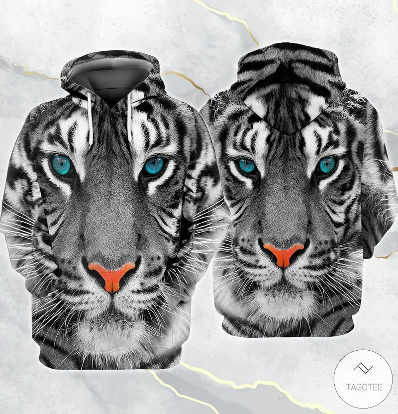 White Tiger Bamboo Forest 3D All Over Print Hoodie