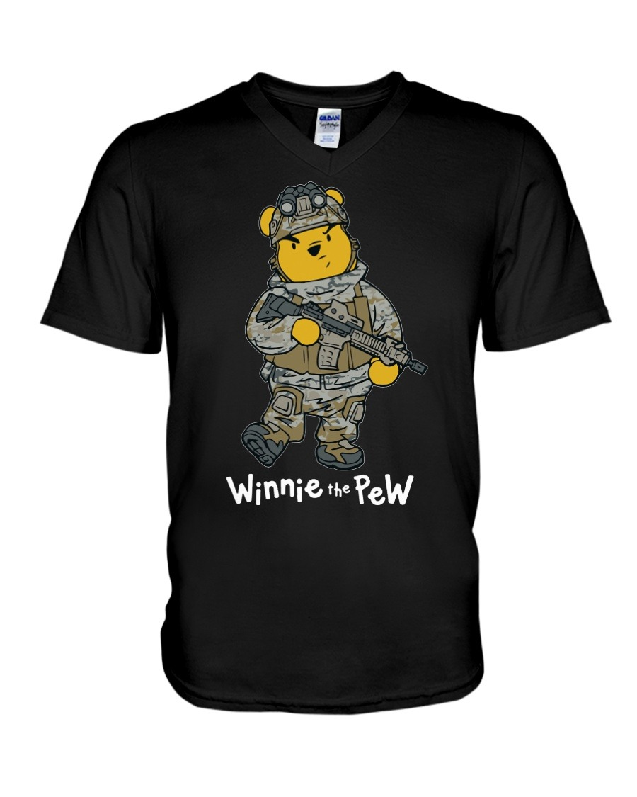Winnie The Pew Army V-neck
