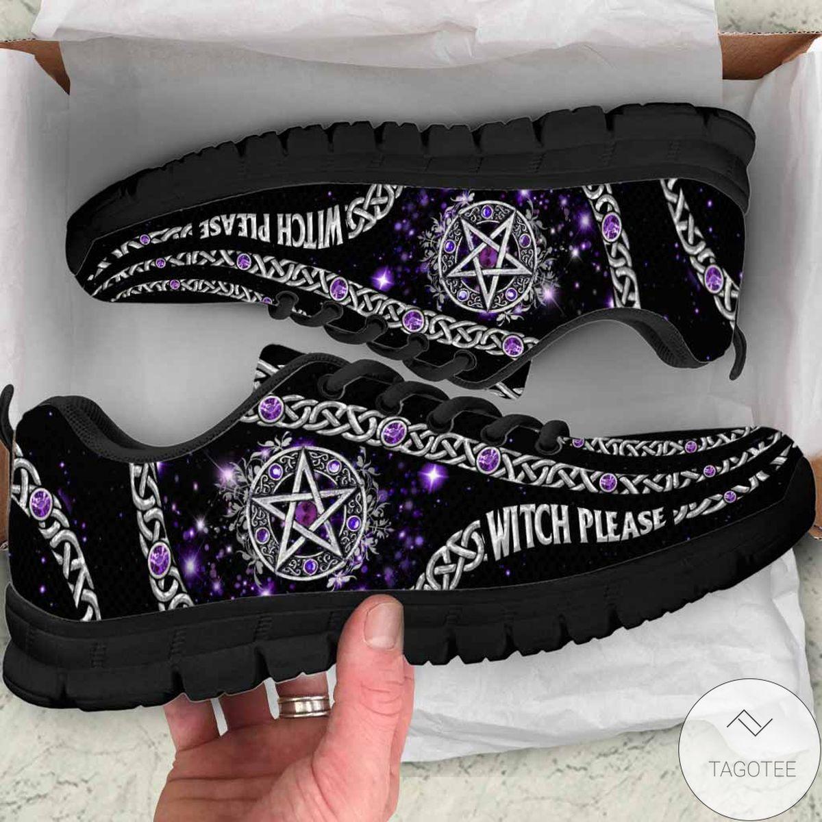 Witch Please Purple Pentagram Sneakers