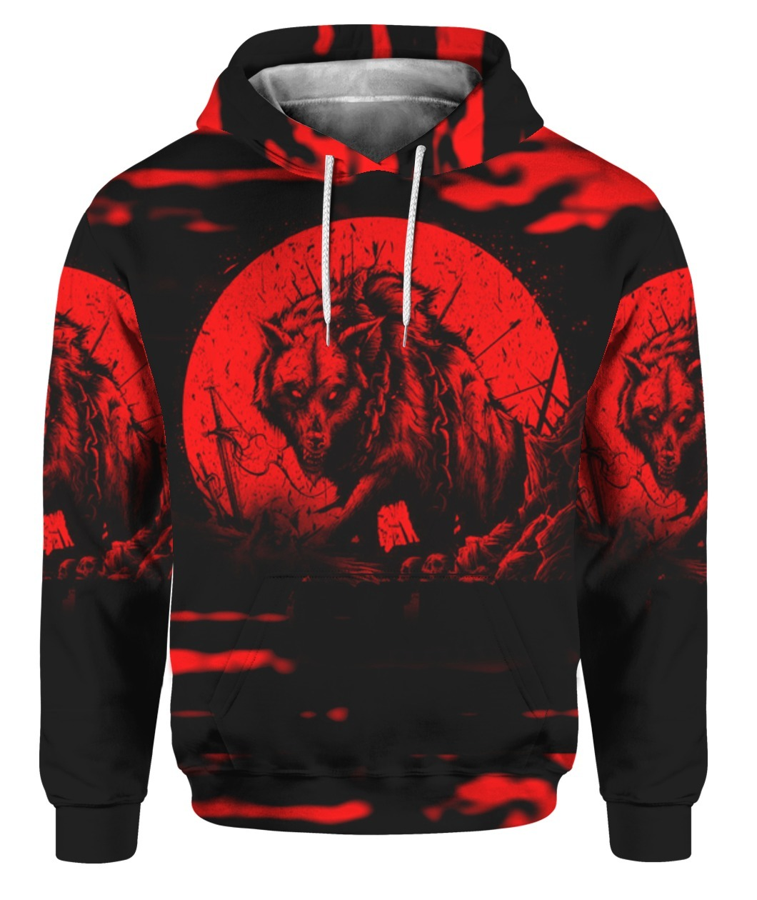 Wolf I'm Not The Hero You Wanted I'm The Monster You Needed 3D hoodie