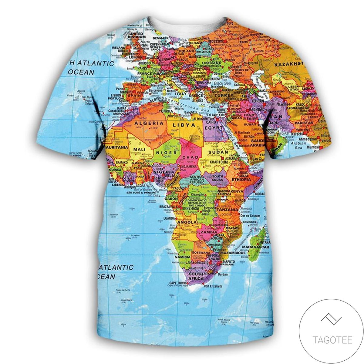 Gorgeous World Map 3d Graphic Printed Short Sleeve Shirt