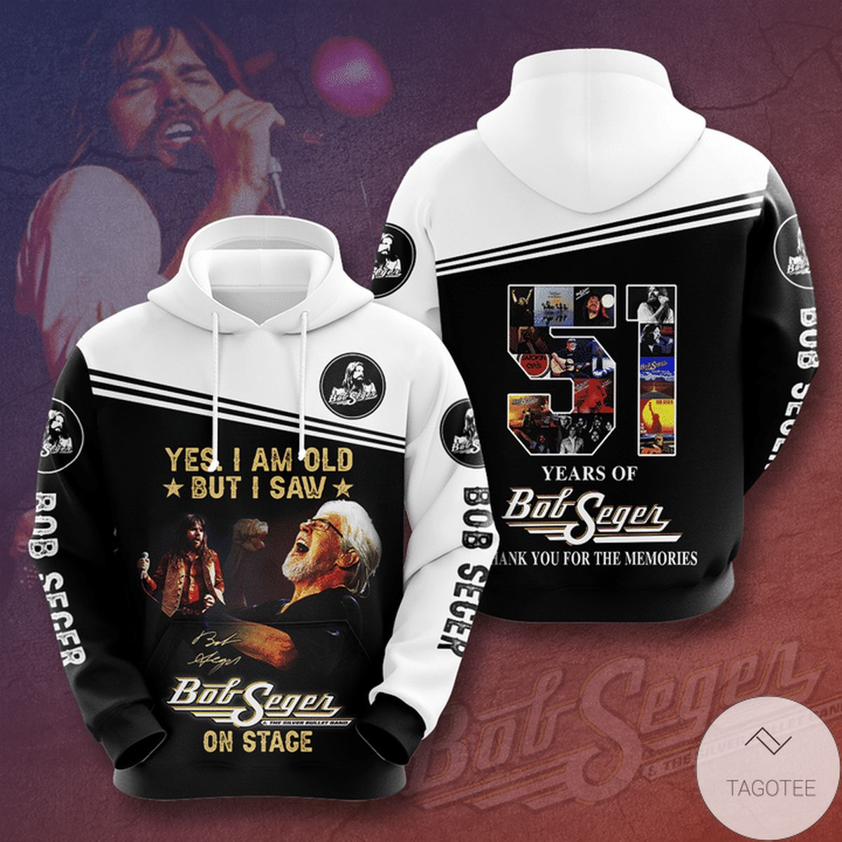 Yes I Am Old But I Saw Bob Seger On Stage 3d Hoodie