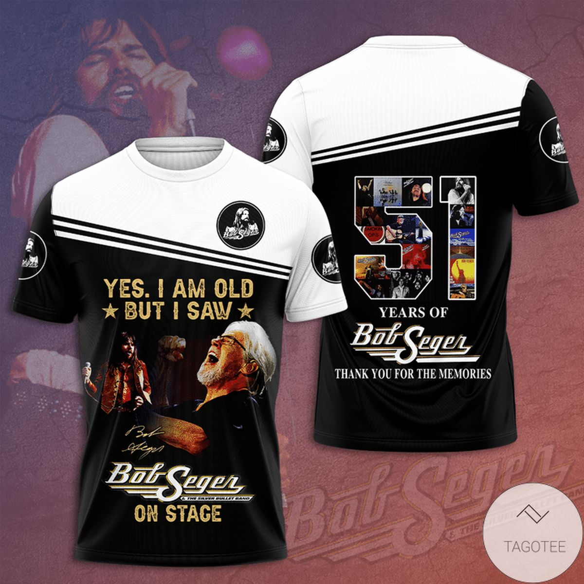 Yes I Am Old But I Saw Bob Seger On Stage 3d Shirt