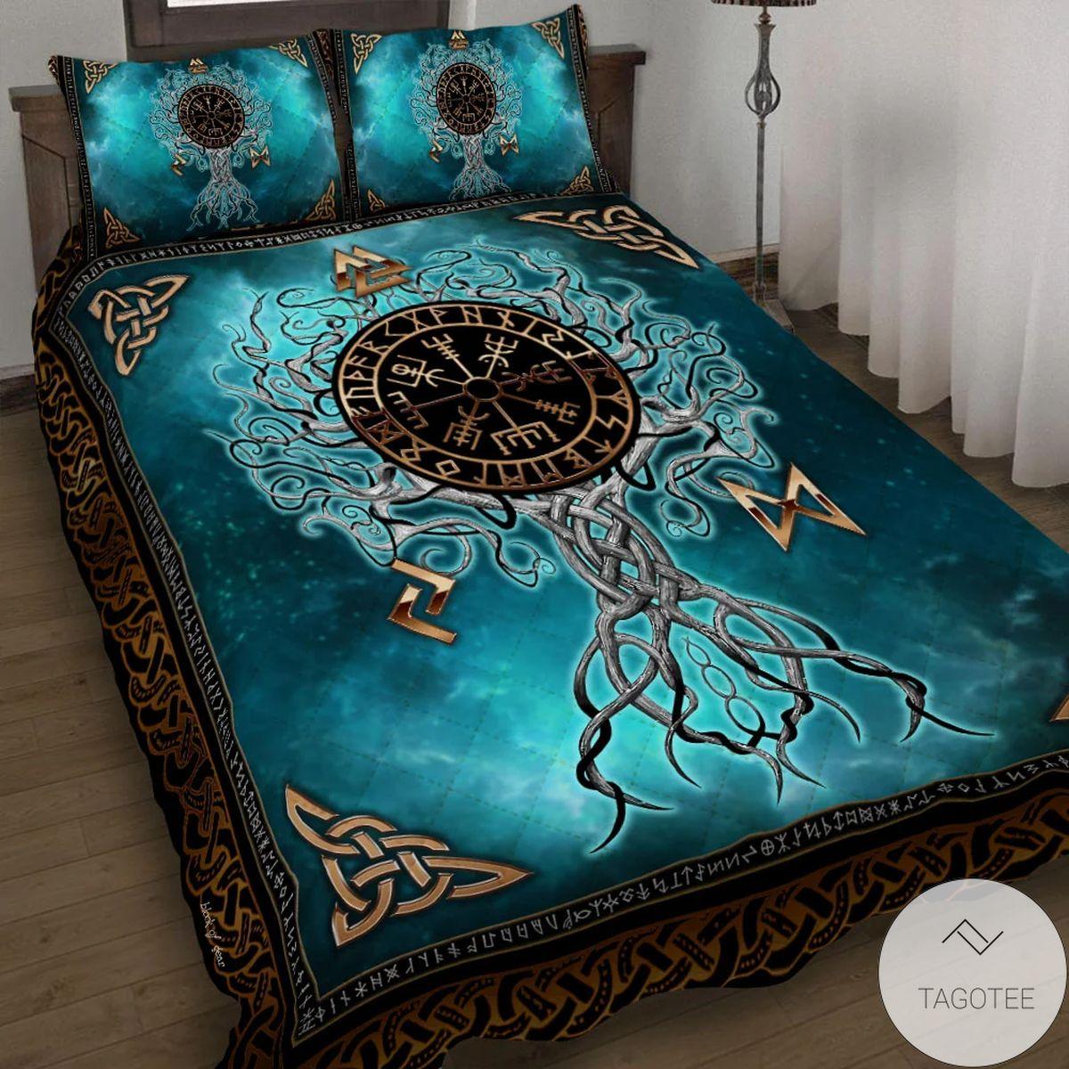 Yggdrasil Viking Quilt Bedding Set