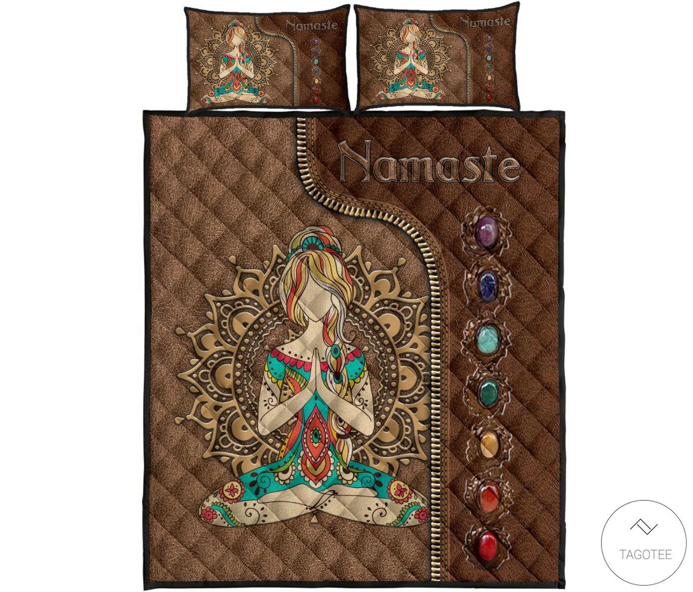 Yoga Namaste As Leather Quilt Bedding Setc