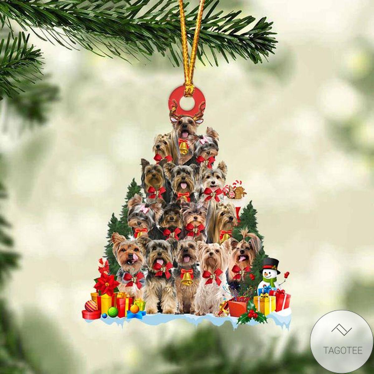 POD Yorkshire Terrier Dog Christmas Tree Ornament