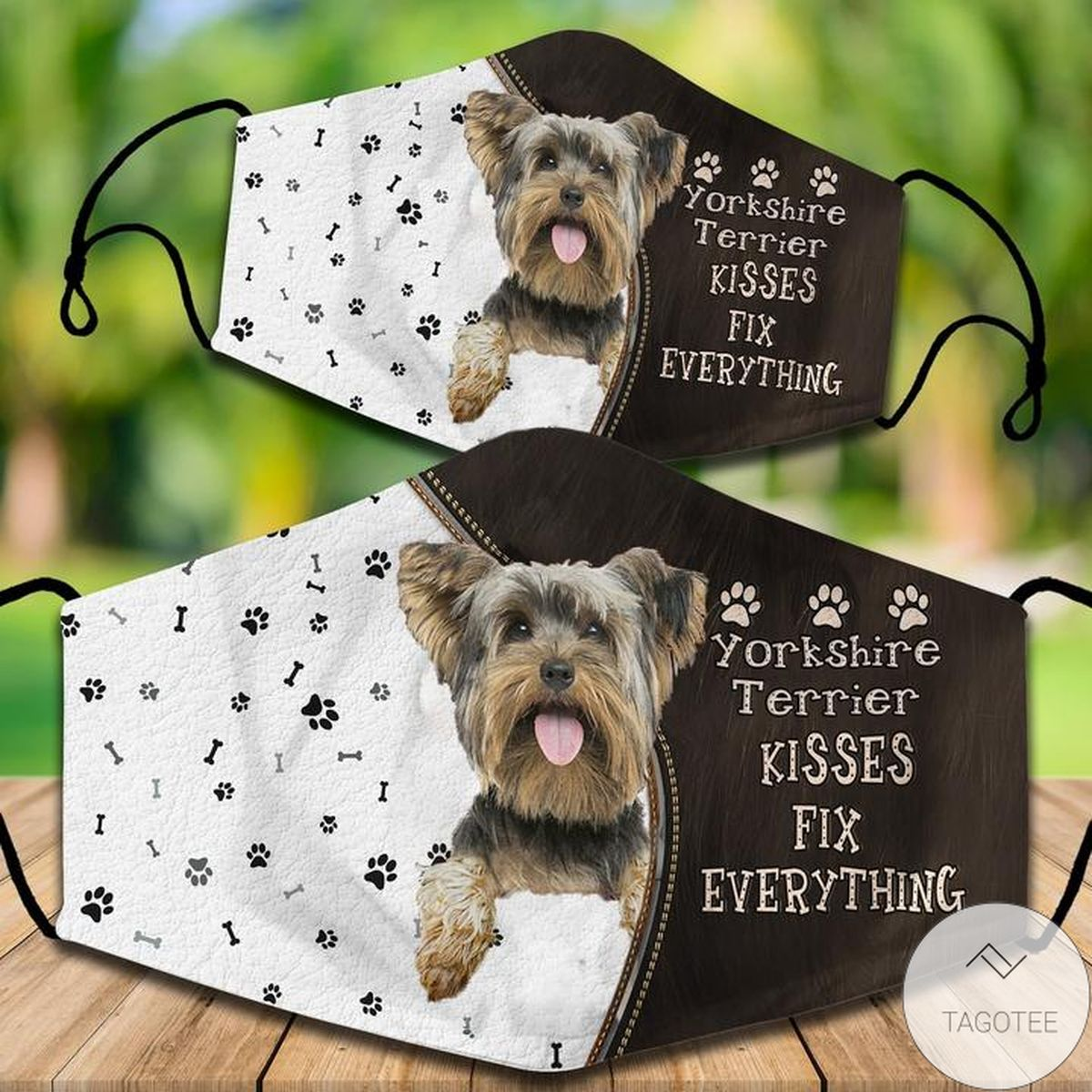Mother's Day Gift Yorkshire Terrier Kisses Fix Everything Face Mask