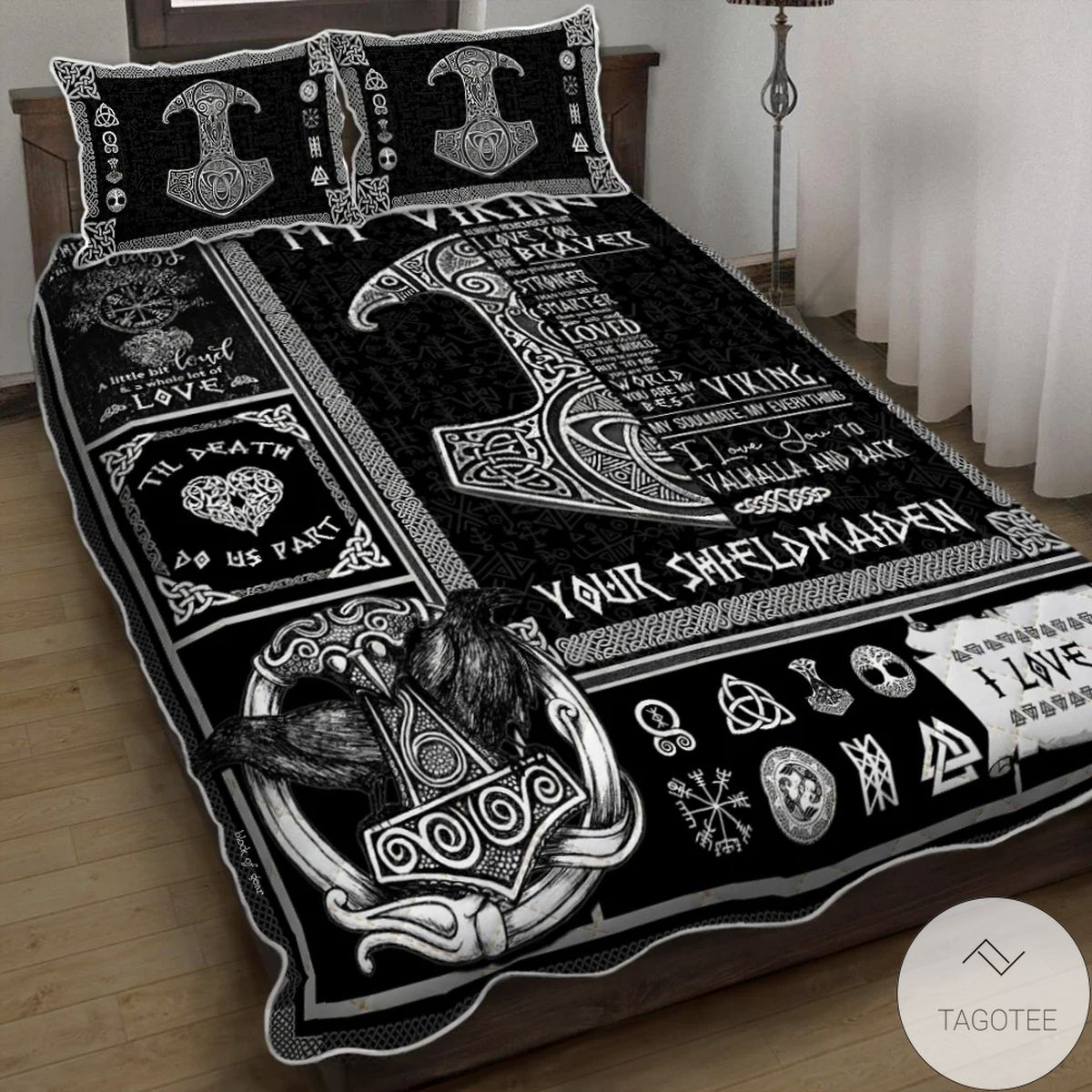You Are My Best Viking From Your Shieldmaiden Quilt Bedding Set