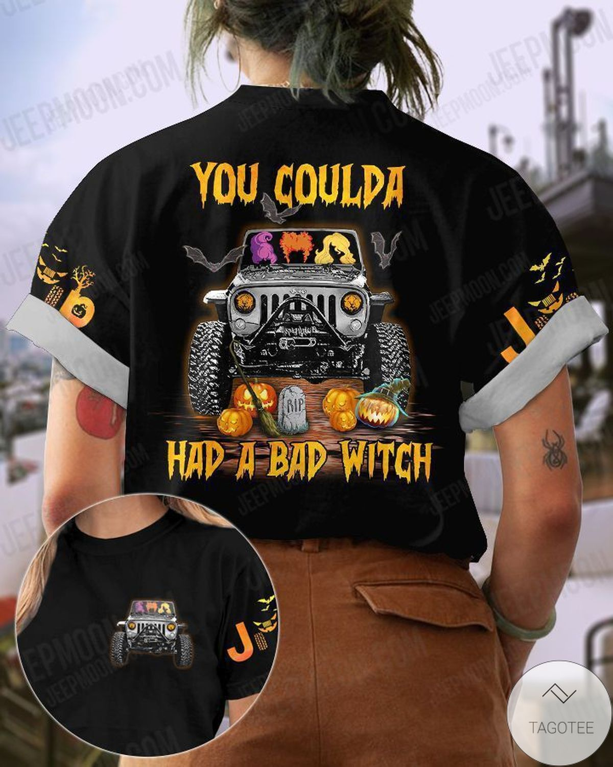 You Coulda Had A Bad Witch Jeep Halloween T-Shirt