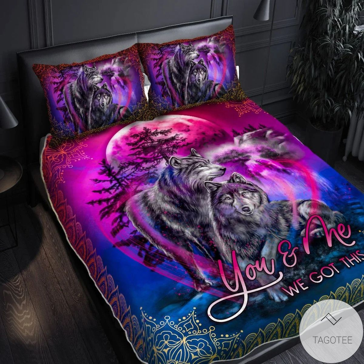 You & Me We Got This Wolf Quilt Bedding Set