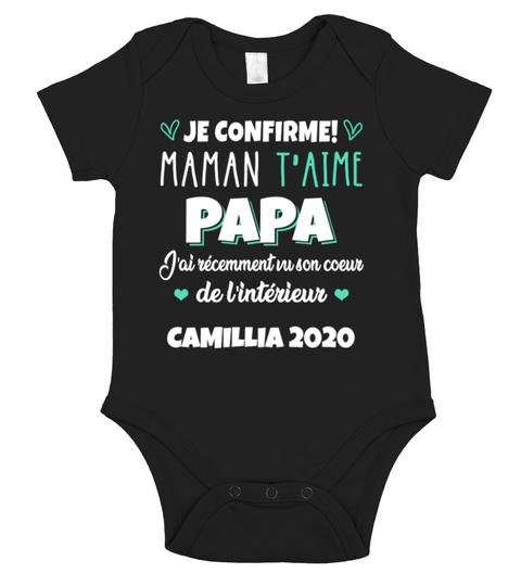 Je Confirme maman t'aime papa chemise de nom personnalisé black