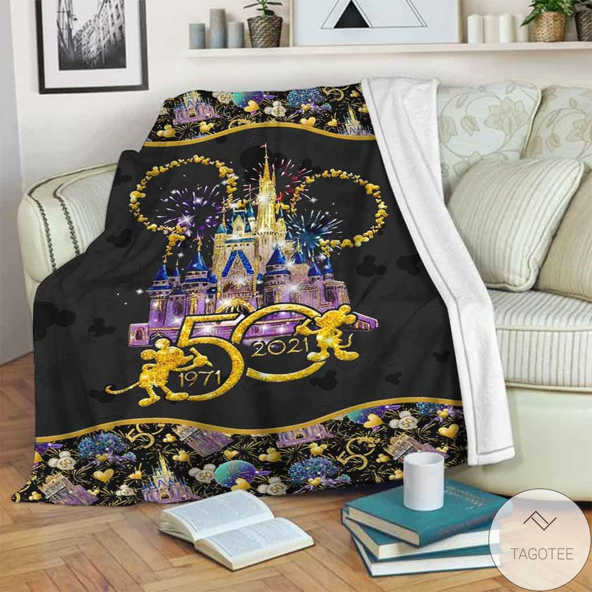 Free Ship 50 Years Of Magic Mickey Mouse Blanket