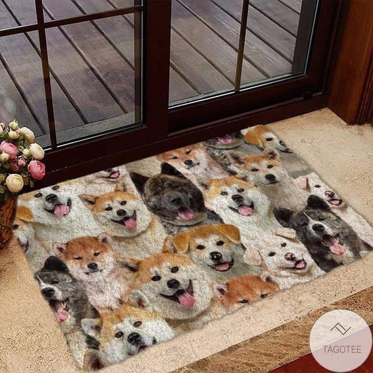 A Bunch Of Akita Inus Doormat