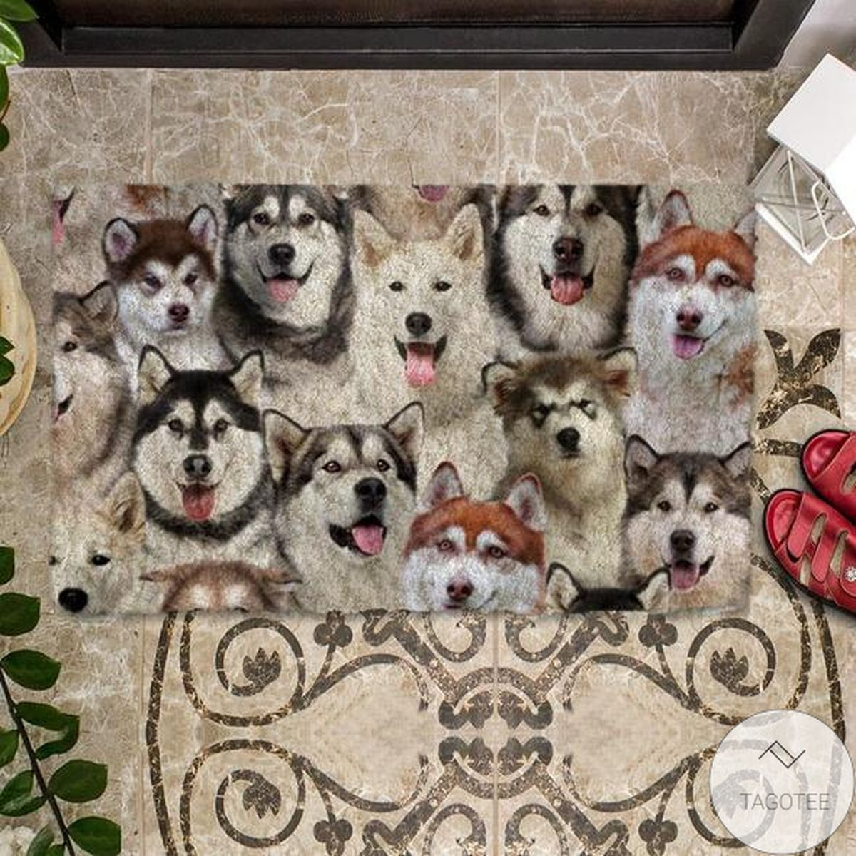Father's Day Gift A Bunch Of Alaskan Malamutes Doormat