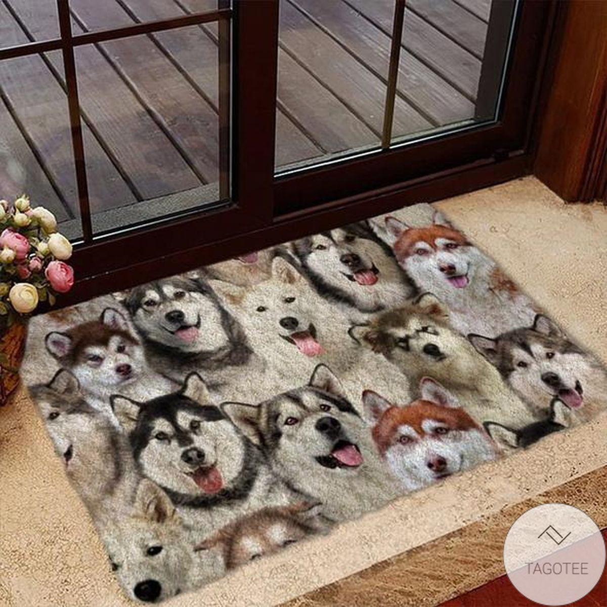 A Bunch Of Alaskan Malamutes Doormat