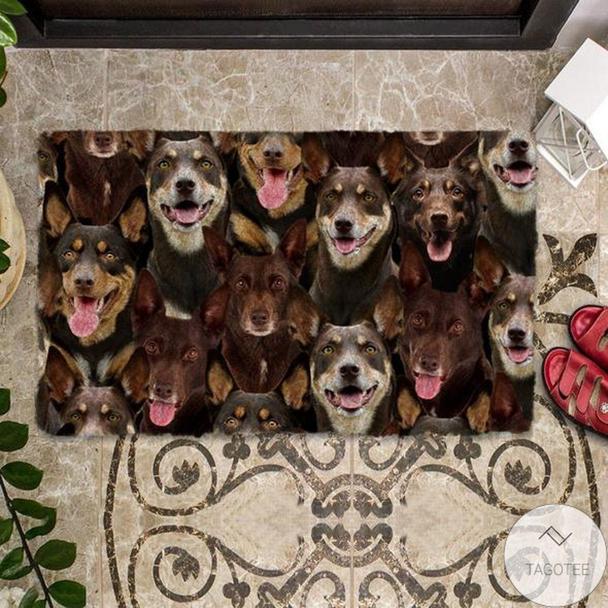 Free A Bunch Of Australian Kelpies Doormat