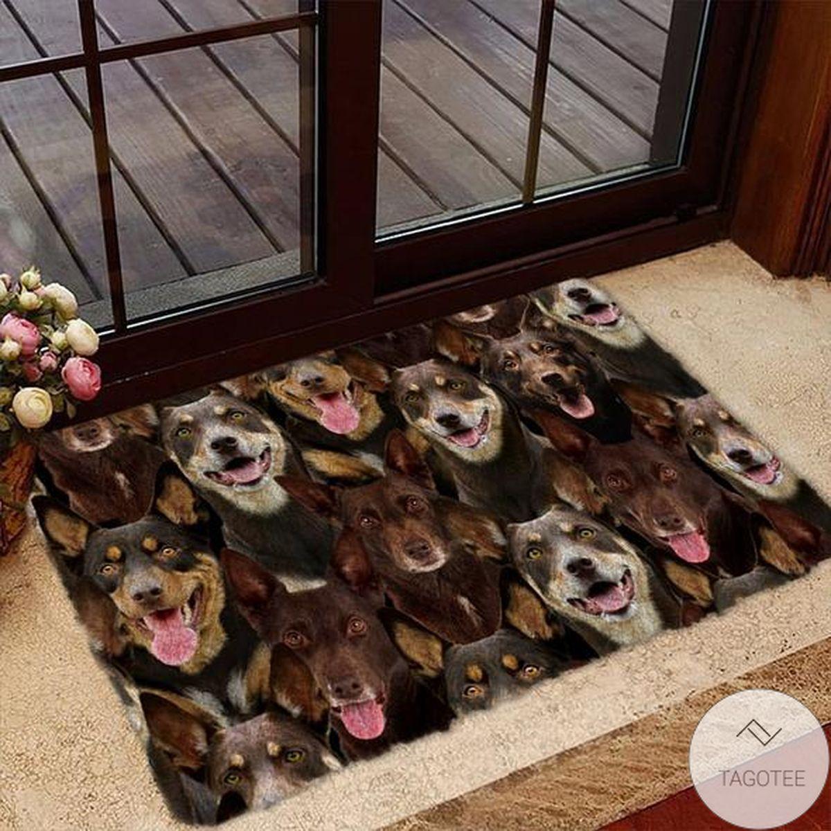A Bunch Of Australian Kelpies Doormat