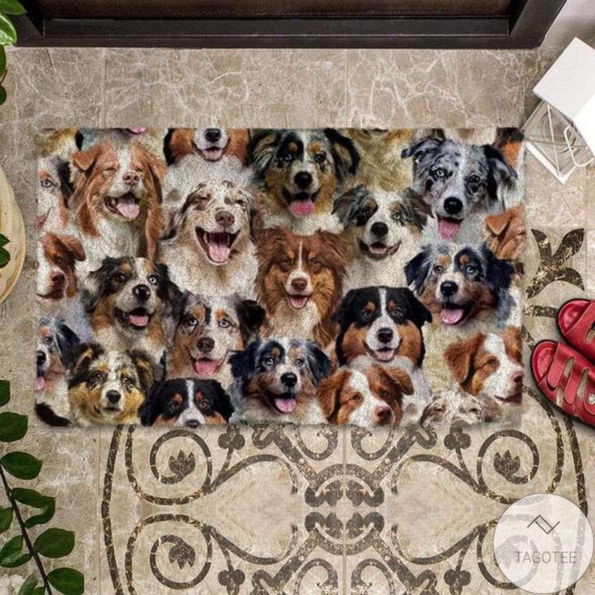 Free A Bunch Of Australian Shepherds Doormat