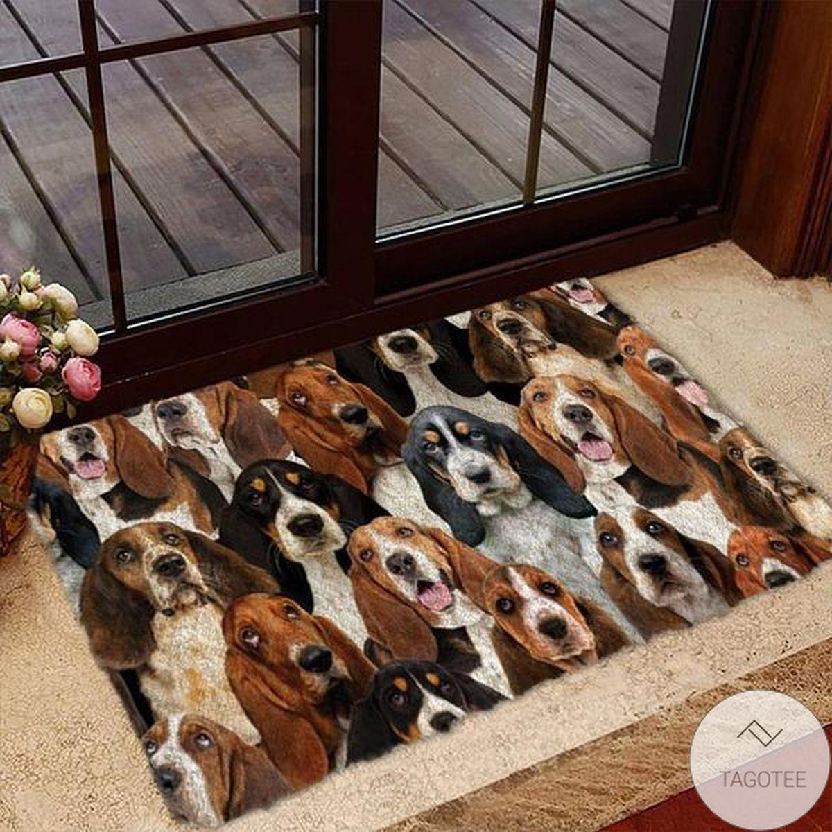 A Bunch Of Basset Hounds Doormat