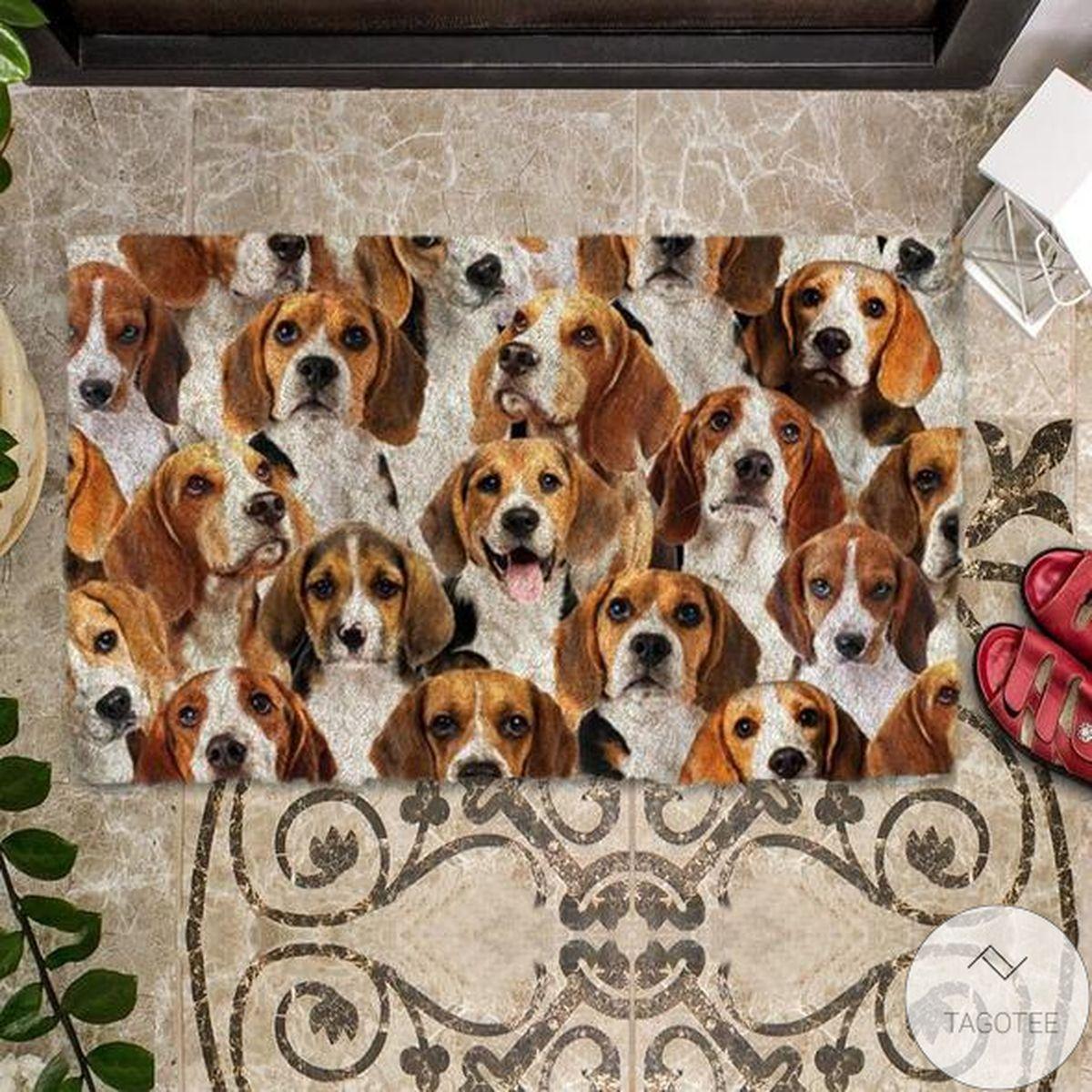 3D A Bunch Of Beagles Doormat