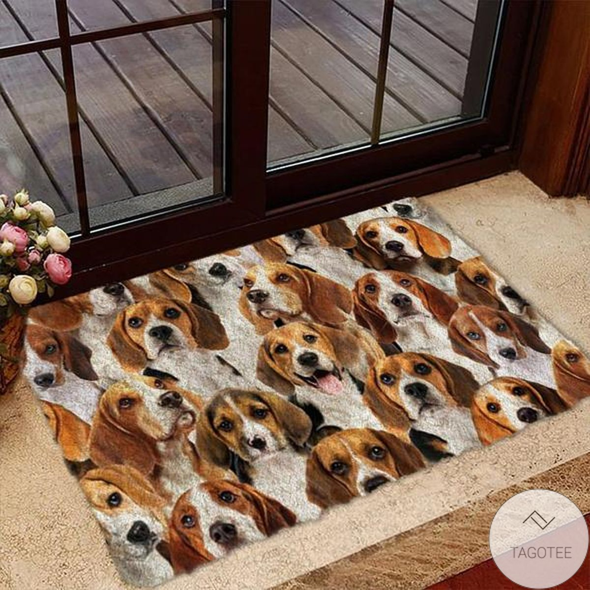 A Bunch Of Beagles Doormat